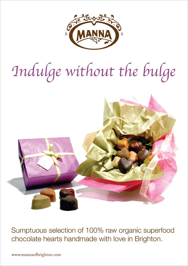 Poster design for Manna handmade chocolates