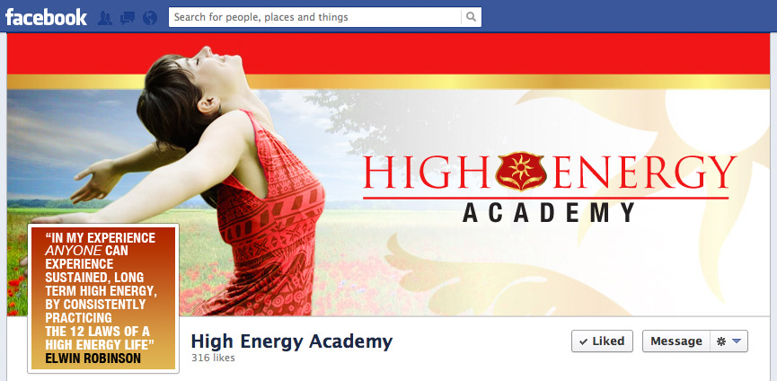 High Energy Academy Facebook banner with thumbnail