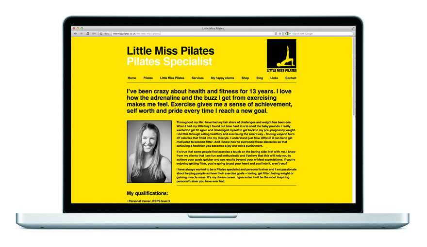 Little Miss Pilates Website