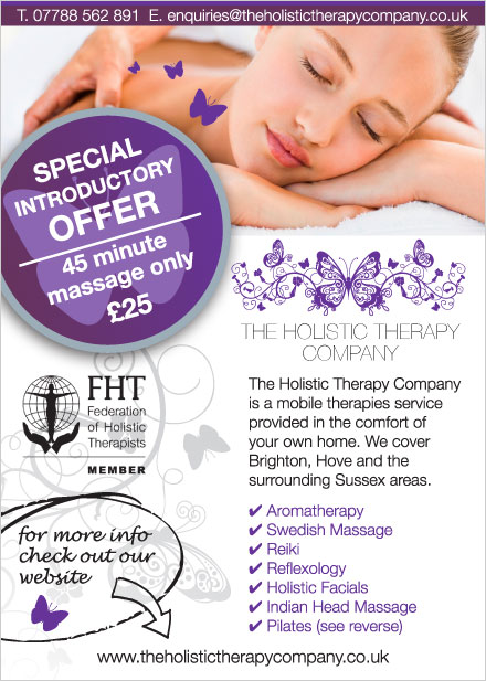 The Holistic Therapy Company Flyer