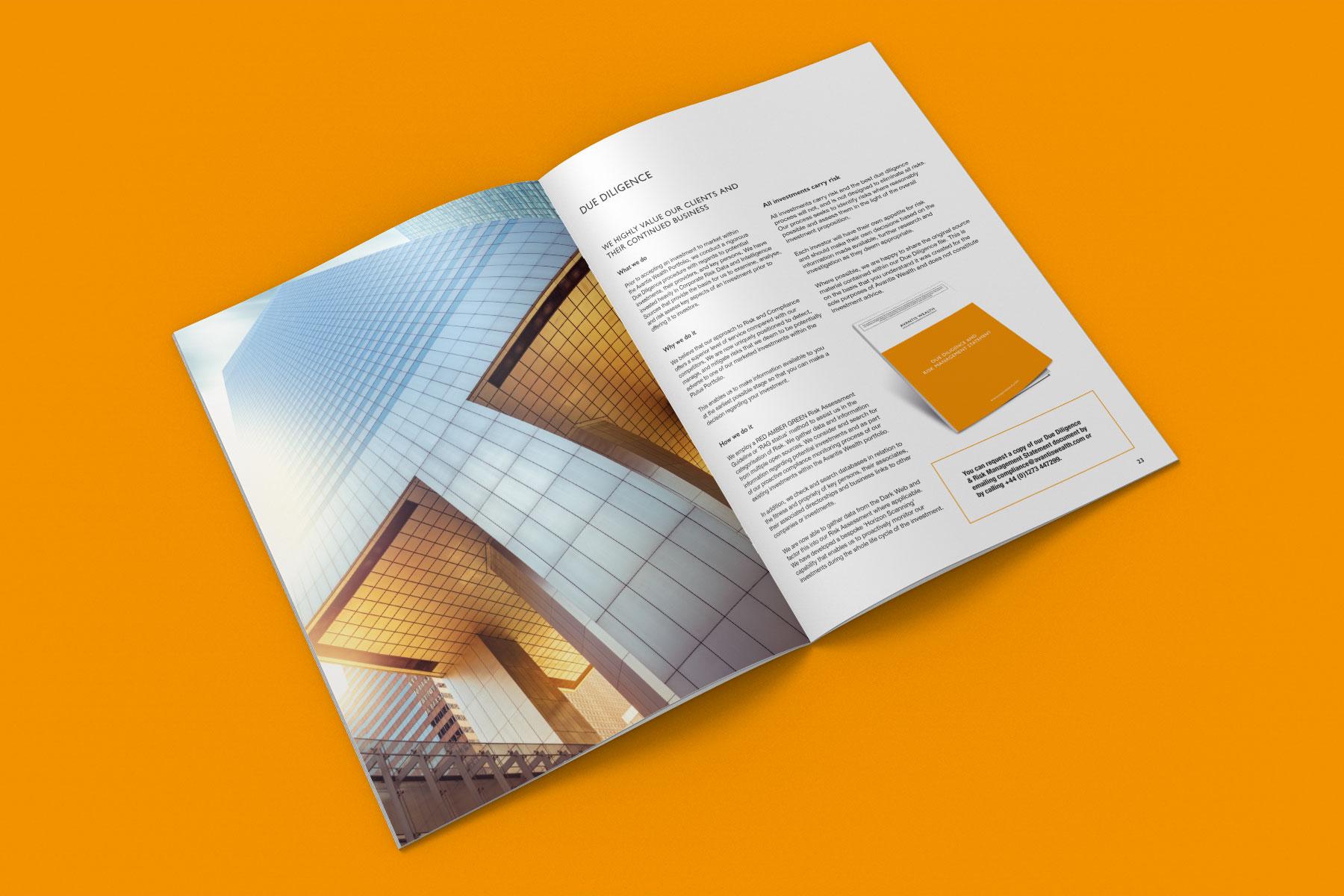 Corporate brochure design inside spread example 3