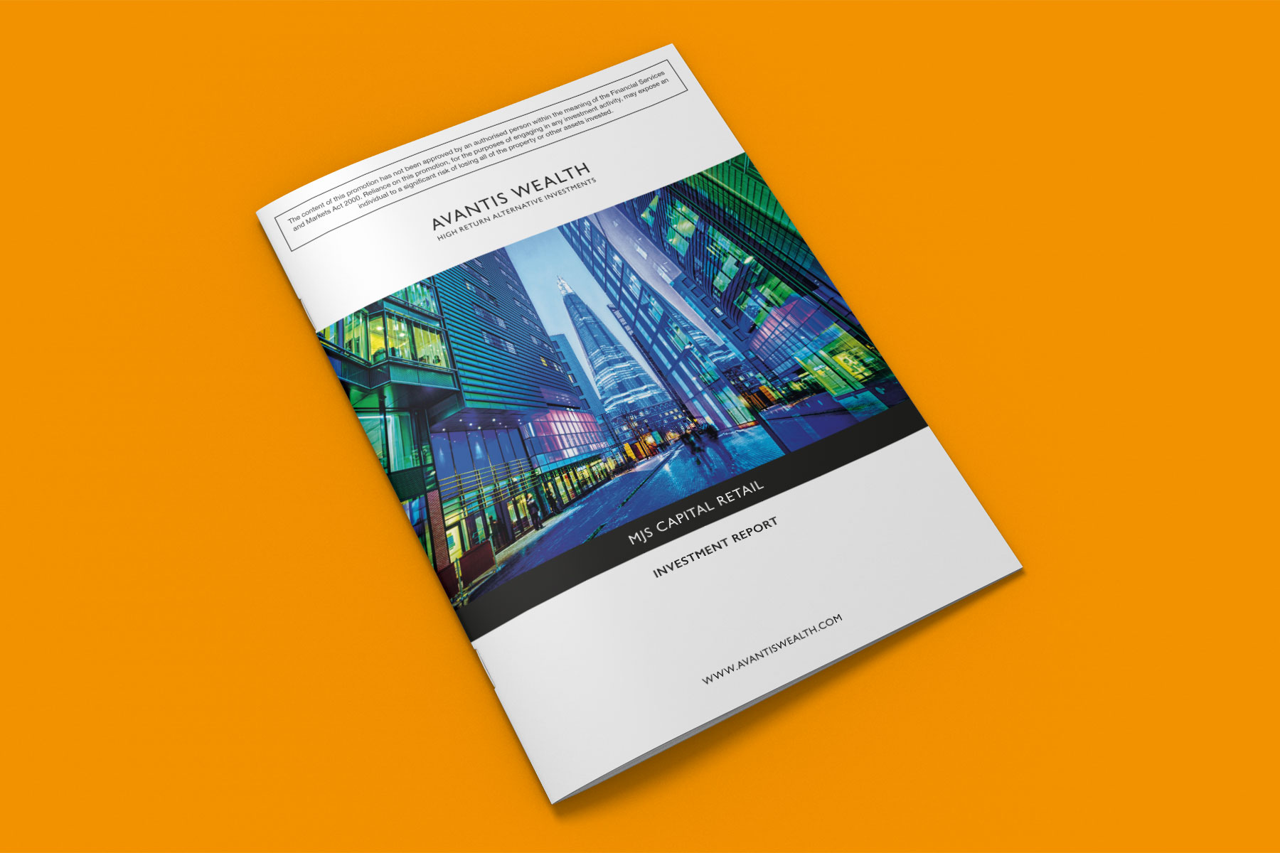 Investment report front cover design