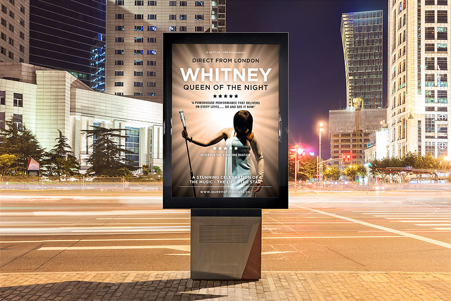 Theatre Poster Design for Whitney Queen of the Night
