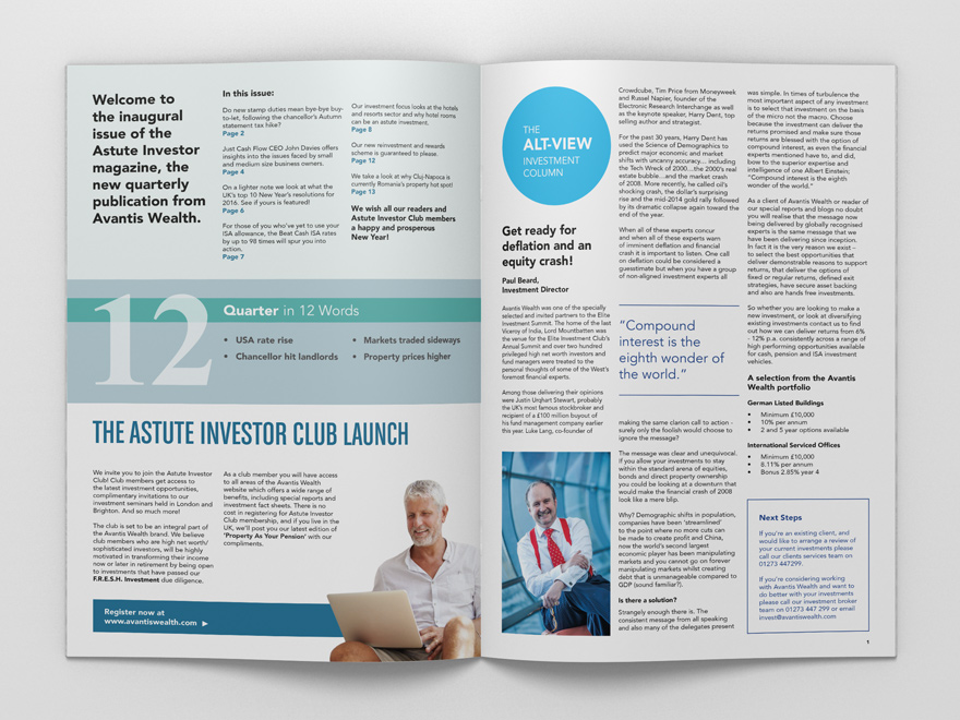 Magazine Design for Astute Investor