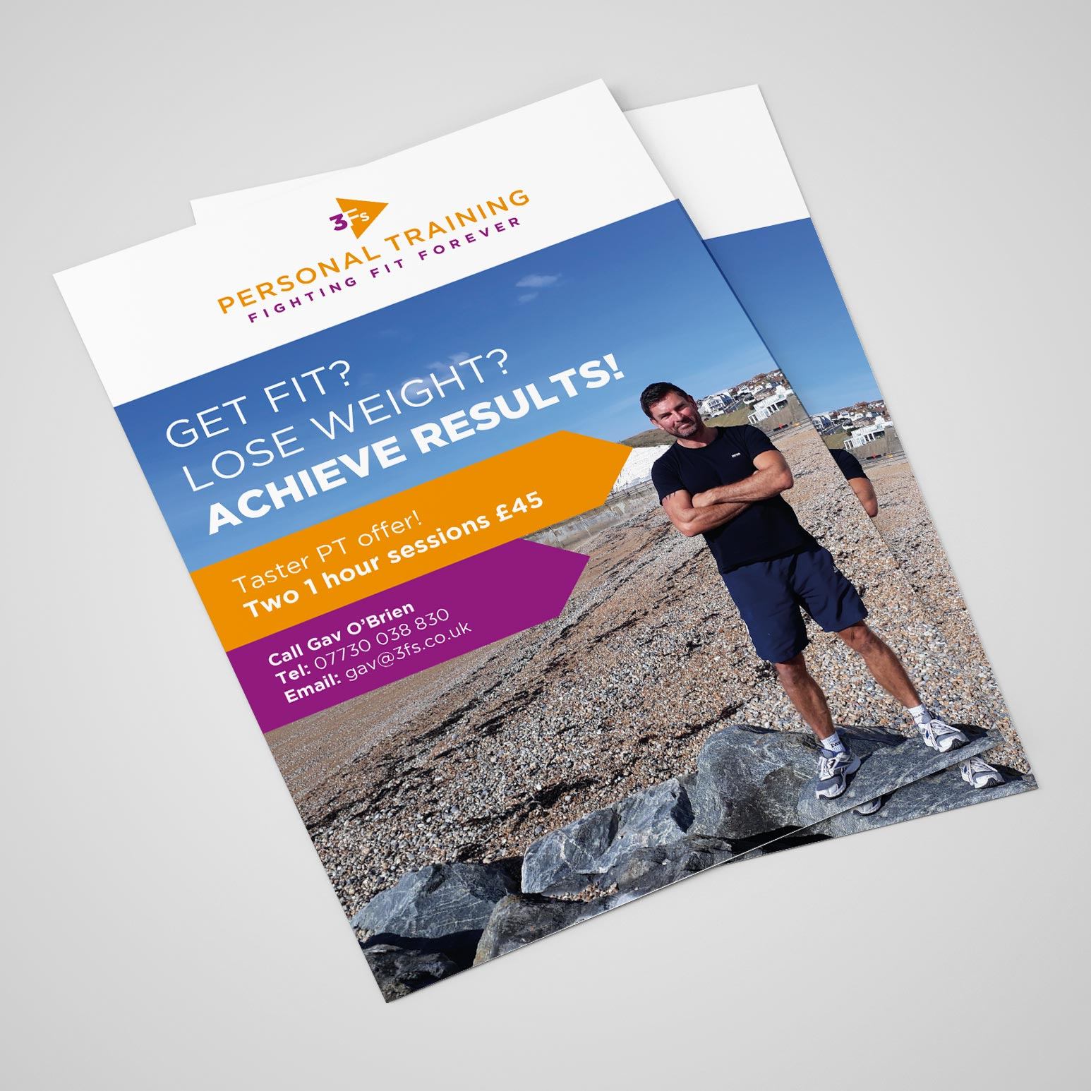 3Fs Personal Training flyer front