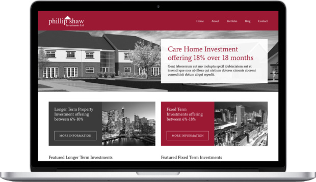 Investment website design
