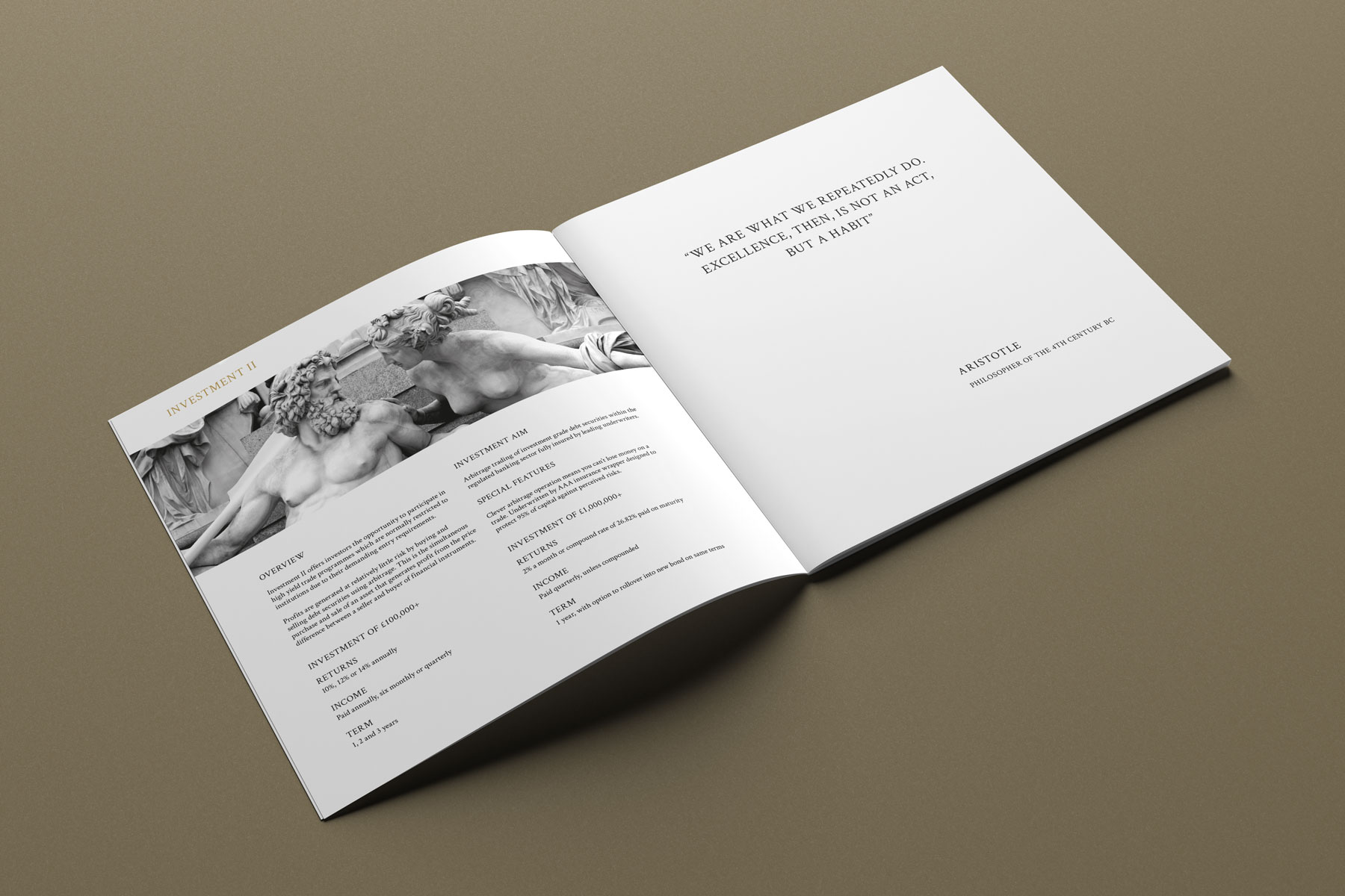 Corporate brochure interior example 1