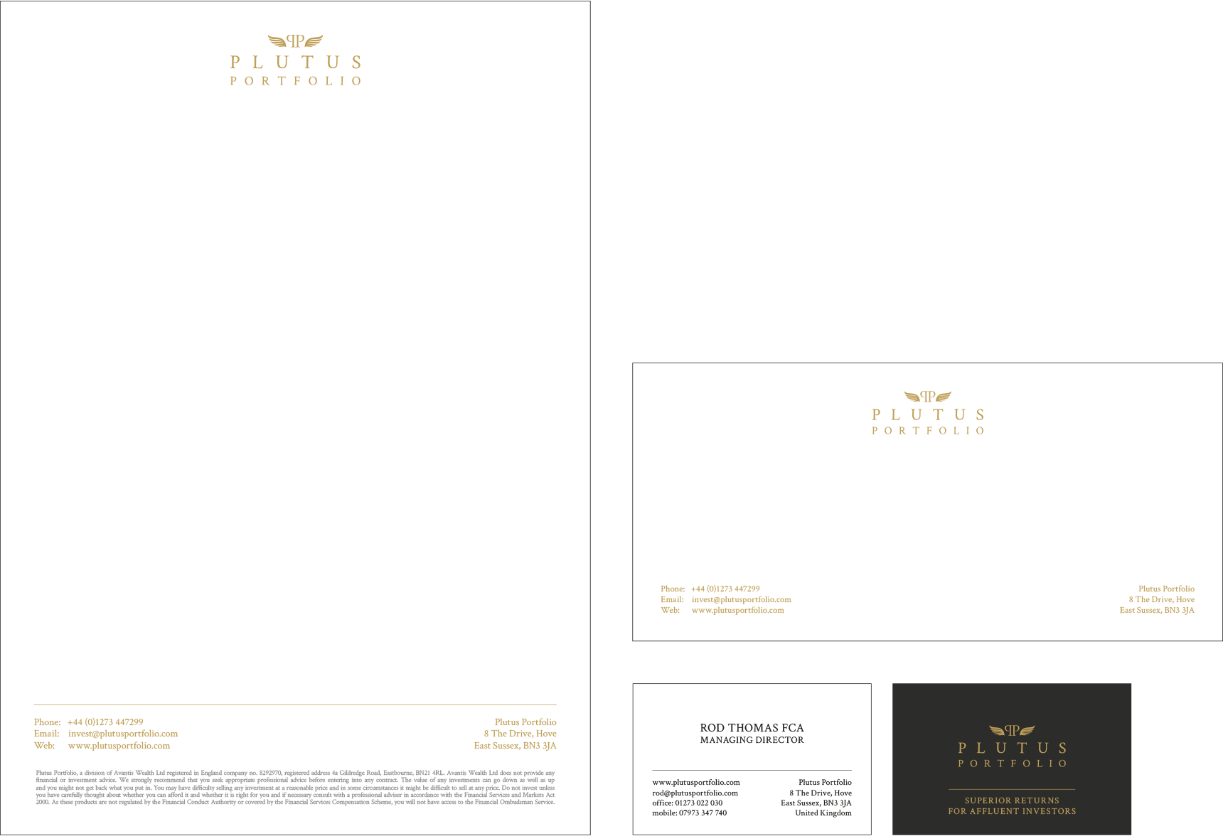 Letterhead, compliment slip and business card design
