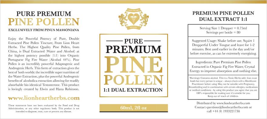 Lion Heart Herbs Tincture Label Designs