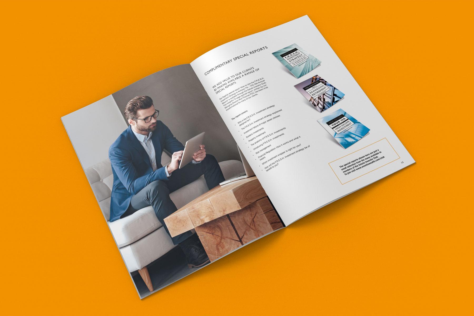 Corporate brochure design inside spread example 2