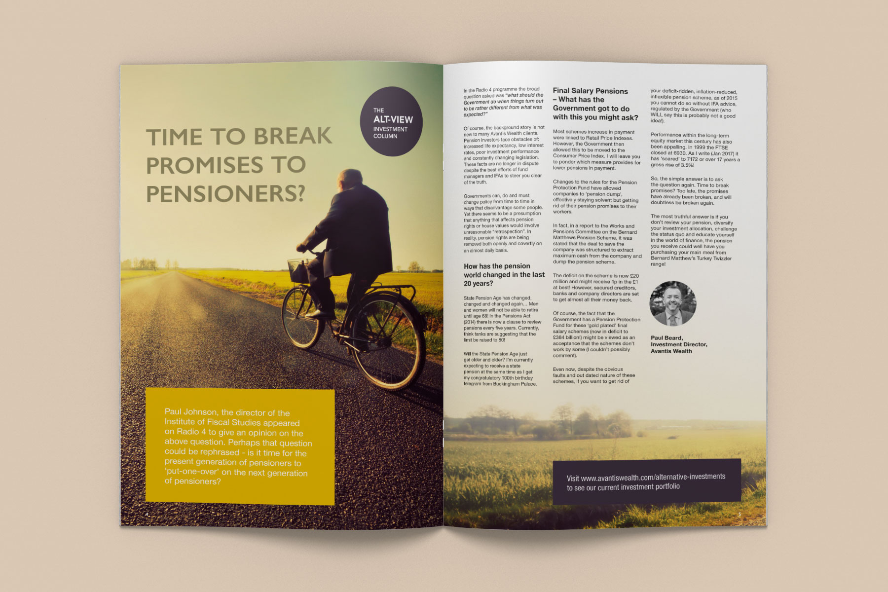 Magazine Design for Astute Investor