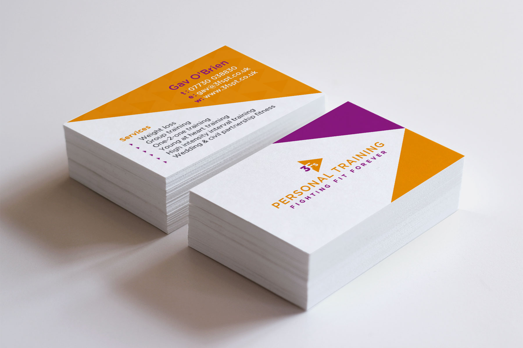3Fs Personal Training business cards