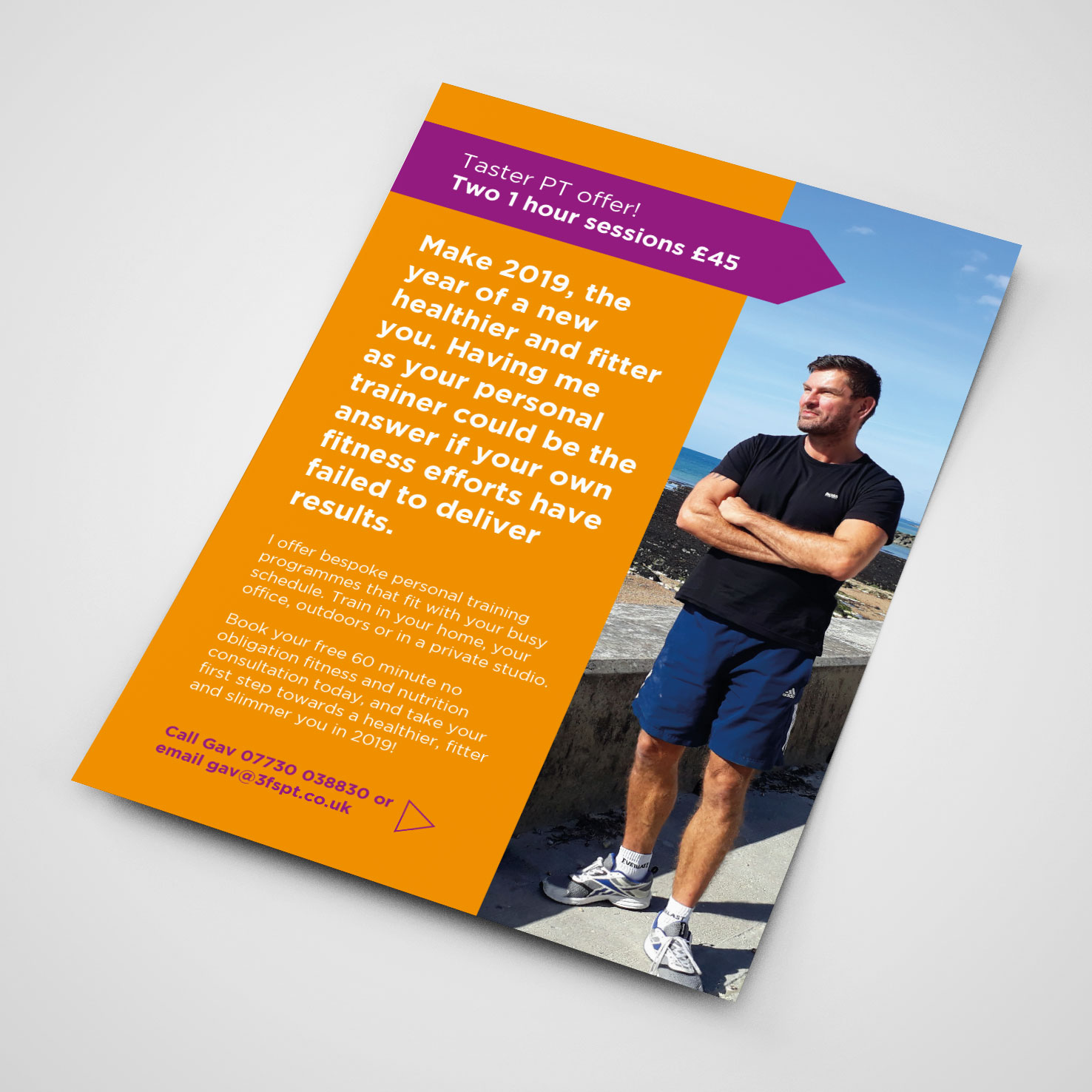 3Fs Personal Training flyer back