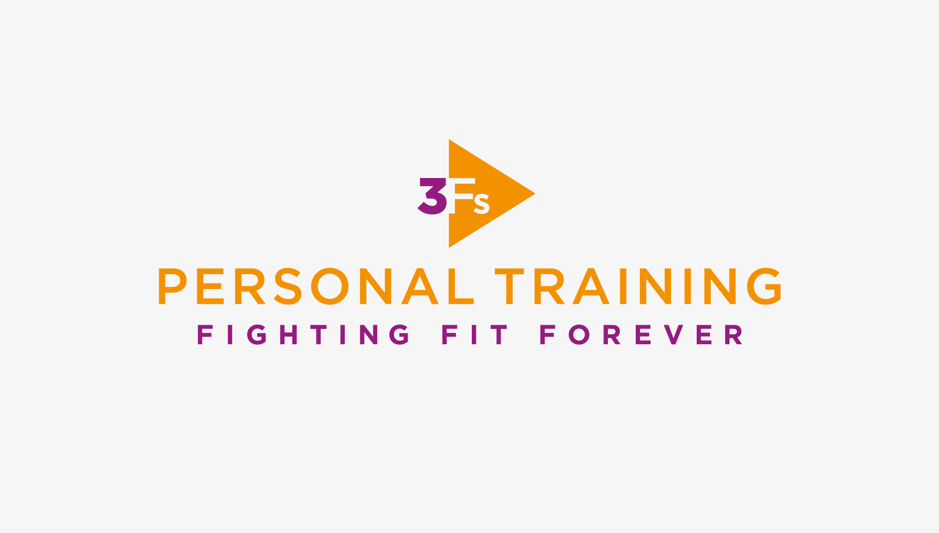 3Fs Personal Training logo in colour on white background