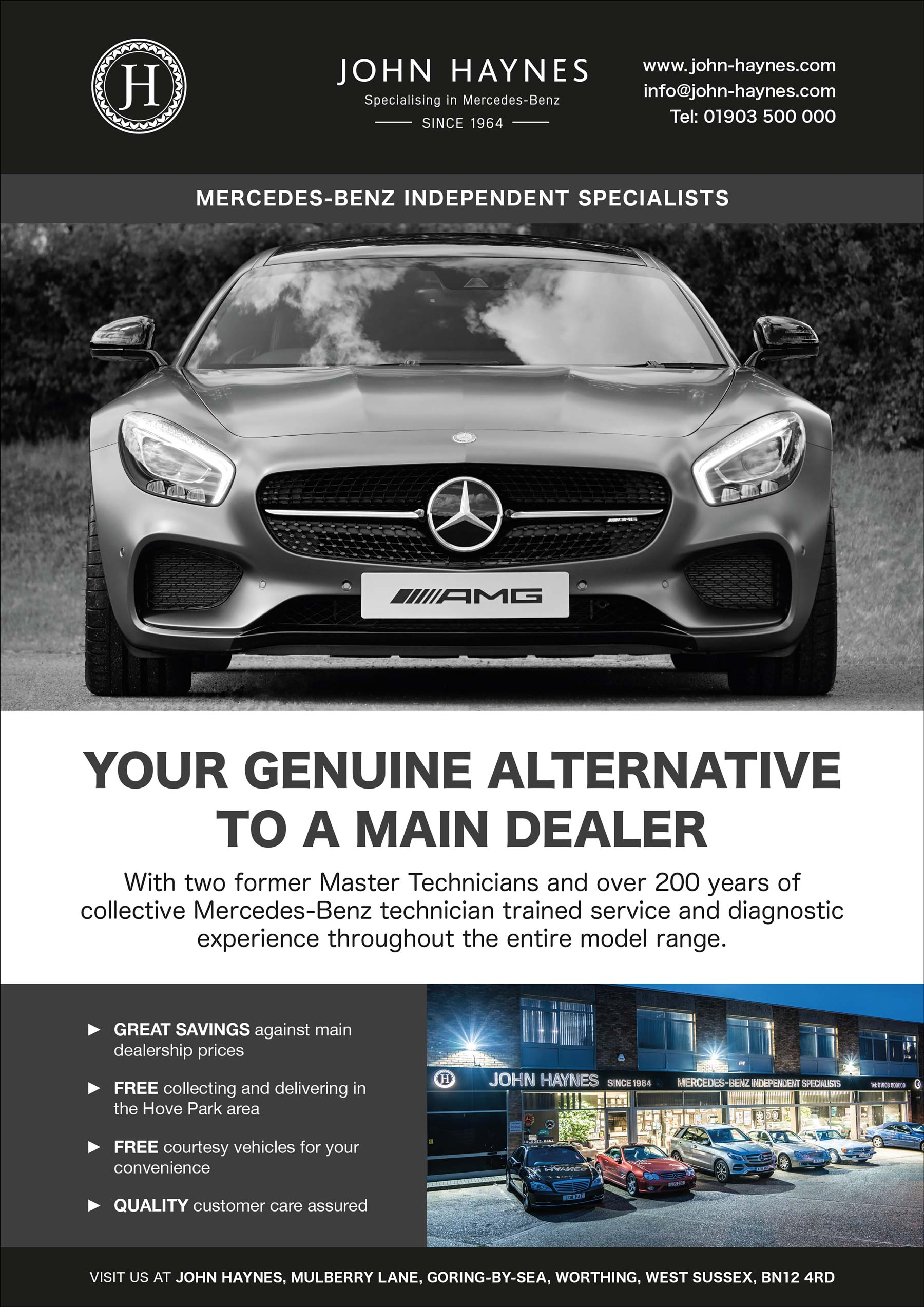 Mercedes Benz dealership magazine adverts